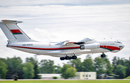 Belarus. Minsk. July 3, 2018. Takeoff aircraft IL-76. Independence Day in Minsk Belarus Air Force Editorial