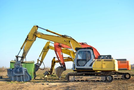 Group Excavator at a construction site