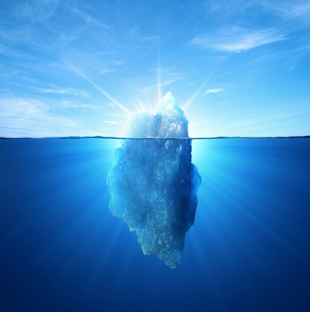 polar climate: Iceberg under water and above water