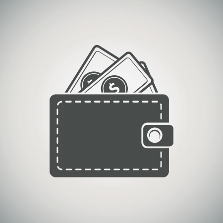 Wallet with dollars icon Stock Vector - 22593247
