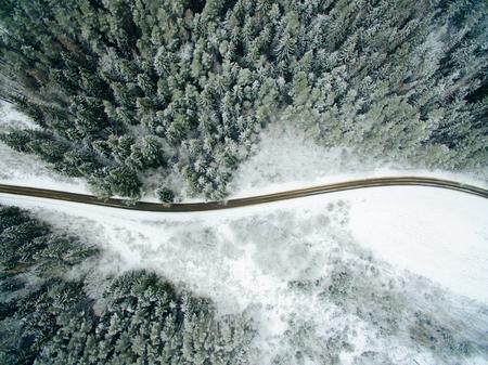 Drone Phantom 4 pro photo winter landscape