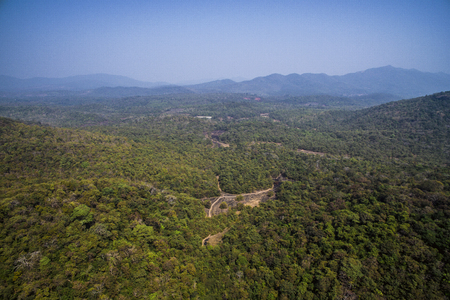 Aerial view of Goa forest, India