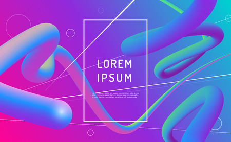 Minimal geometric background. Simple shapes with trendy gradients. Eps10 vector. Иллюстрация