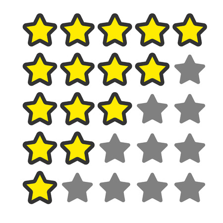 opinion: 5 star rating. Vector icon for web and your other design. Cartoon style.