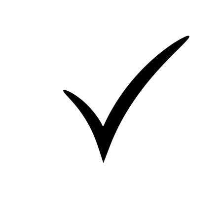 Check mark icon vector illustration Çizim