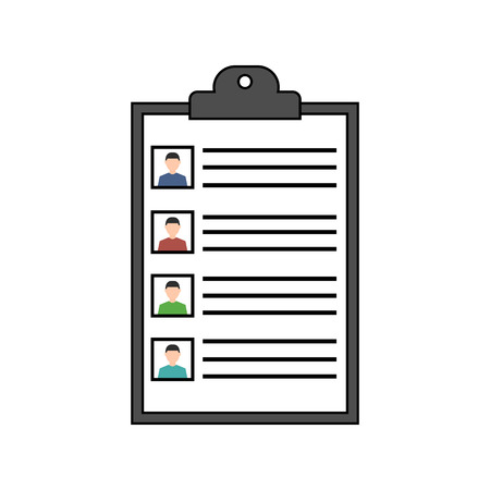 Summary of resumes icon vector illustration Ilustração