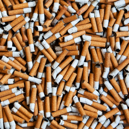 closeup of many dirty cigarettes butts background Stock Photo - 14624475