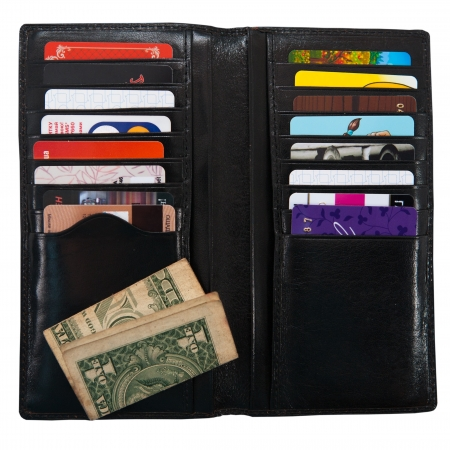 wallet with plastic cards on a white background Stock Photo - 14624458