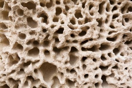 Primer plano de los patrones de erosi�n en la roca Foto de archivo