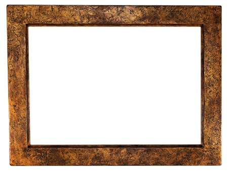 beautiful ancient frame for a picture isolated white