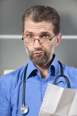 Doctor tells of bad result of inspection Stock Photo - 18323493
