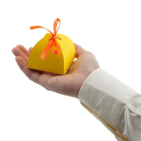 giving gift: man
