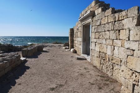 ruins of Chersonese Taurian in Crimea, Ukraine