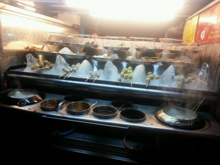 Local Asian food truck selling Lok-Lok