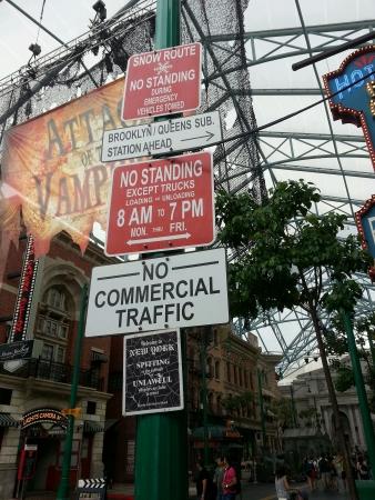 New York street sign in Universal Studio