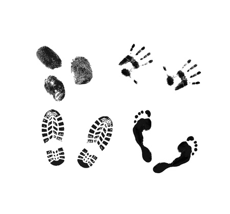 Shoeprints Handprints and Fingerprints photo