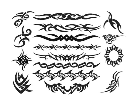 tribal tattoo: Set of tattoos