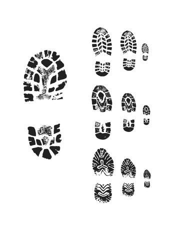 Shoe print photo