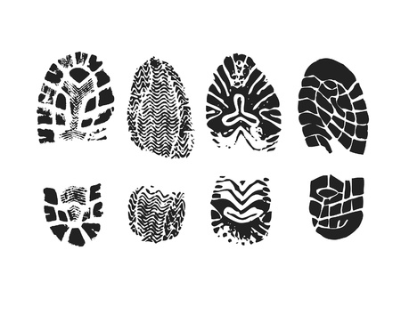 foot prints: Shoe print Stock Photo