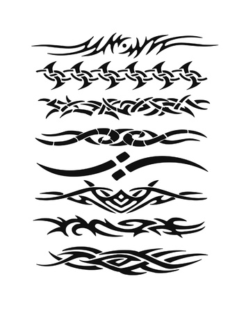 tribal design: Set of tattoo Stock Photo