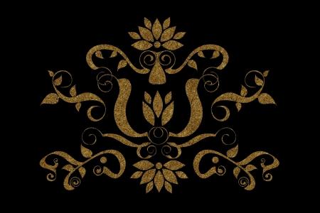 Gold symbol on black background Stock Photo - 17190864