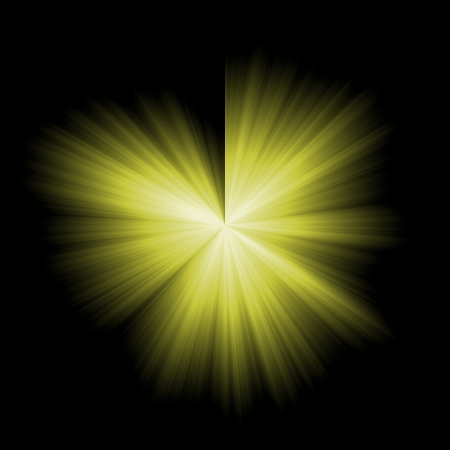 Yellow star burst photo