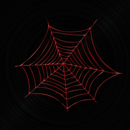Red spider web Stock Photo - 17348141