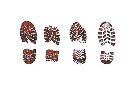 Huellas de zapatos Foto de archivo - 17696665