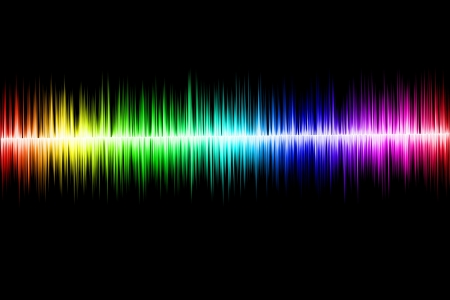 Colorful sound wave photo