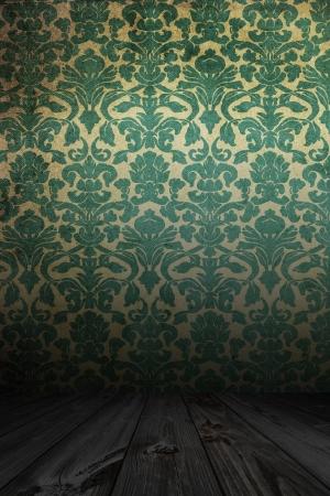 flor: Vintage room with wooden flor Stock Photo