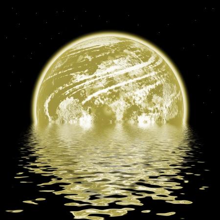 Planet and water photo