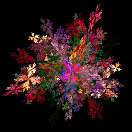 chaos theory: Fractal background
