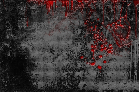 Grunge wall with blood  photo