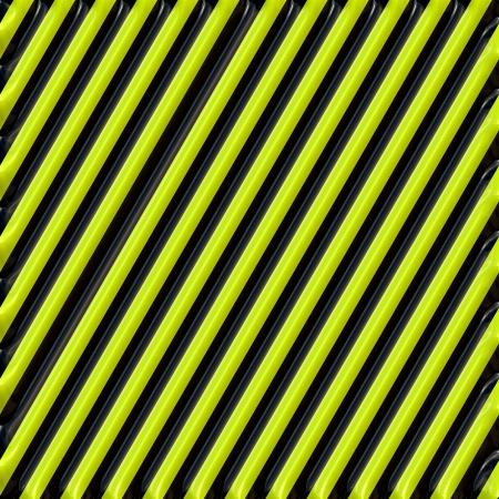 metalized: Metalized Black and Yellow Warning Stripes