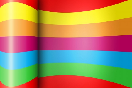 Wrapped Rainbow Paper Background With Shine photo