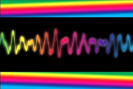 Colorful sound wave