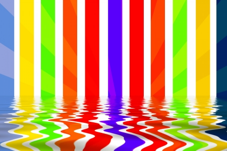 water reflection: Background With Stripes and Reflection in the Water  Stock Photo
