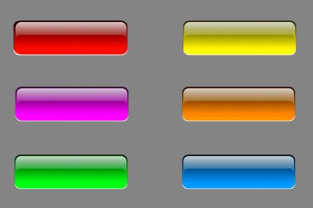 glossy buttons: Pulsanti Glossy