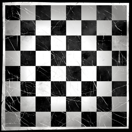 Grunge Chess Board With Scratch  photo