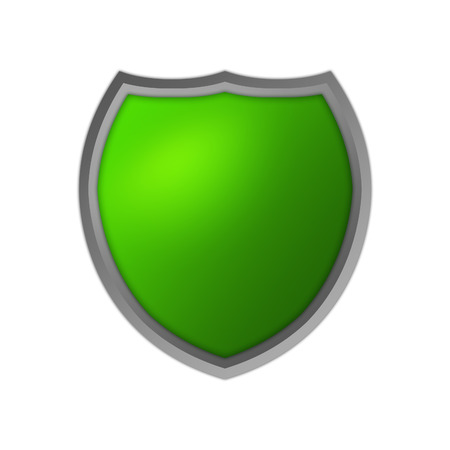 Green Isolated Shield photo