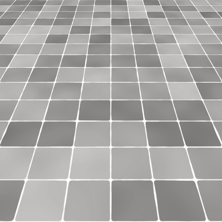 視点の黒と白のタイル