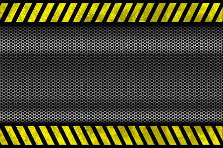 Metal Mesh With Yellow Lines  photo