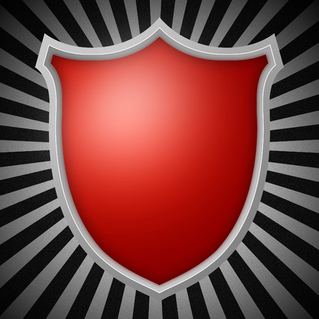 Shield on Rays Background  Stock Photo