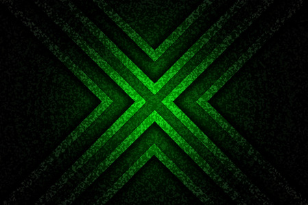 Abstract green x background