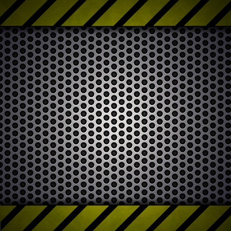 Metal Mesh With Yellow Lines