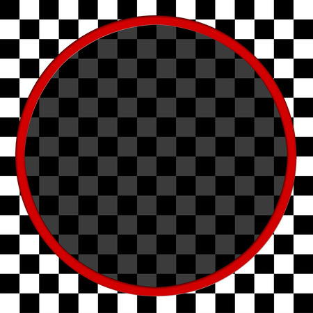 Background With Black and White Square and Red Circle