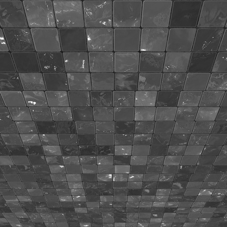 Perspective Black and White Tiles  Stock Photo