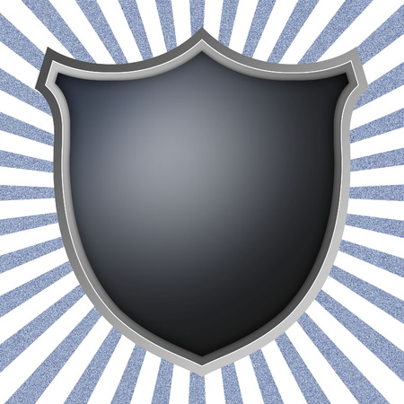 Shield on the rays background  Stock Photo
