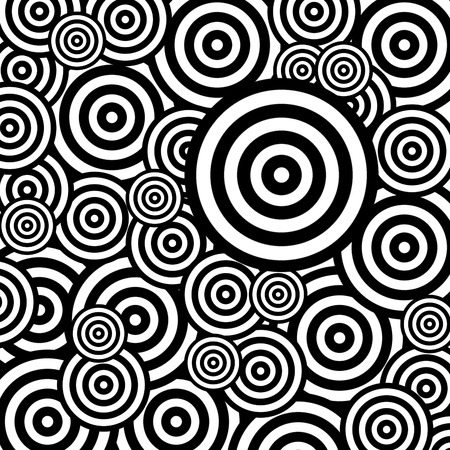 Geometric abstract seamless pattern in black and white
