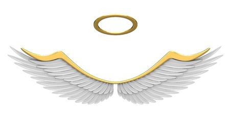Robes engel geïsoleerd op een witte achtergrond. Stockfoto